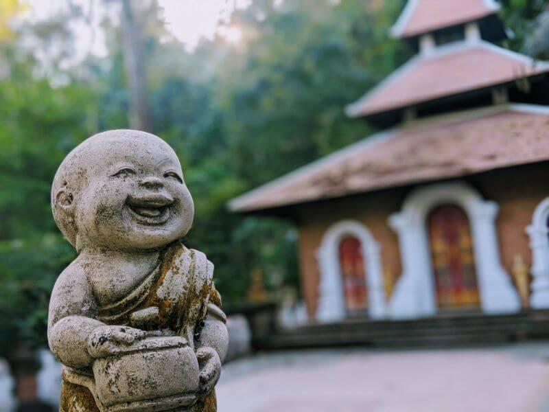 statue of baby Buddha at Wat Pha Lat, Chiang Mai, Thailand
