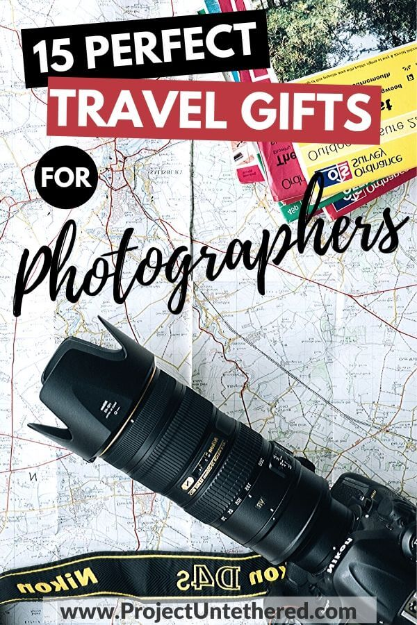 camera and map with text overlay 15 perfect travel gifts for photographers