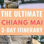 elephants and buddha statues with text overlay chiang may 3-day itinerary