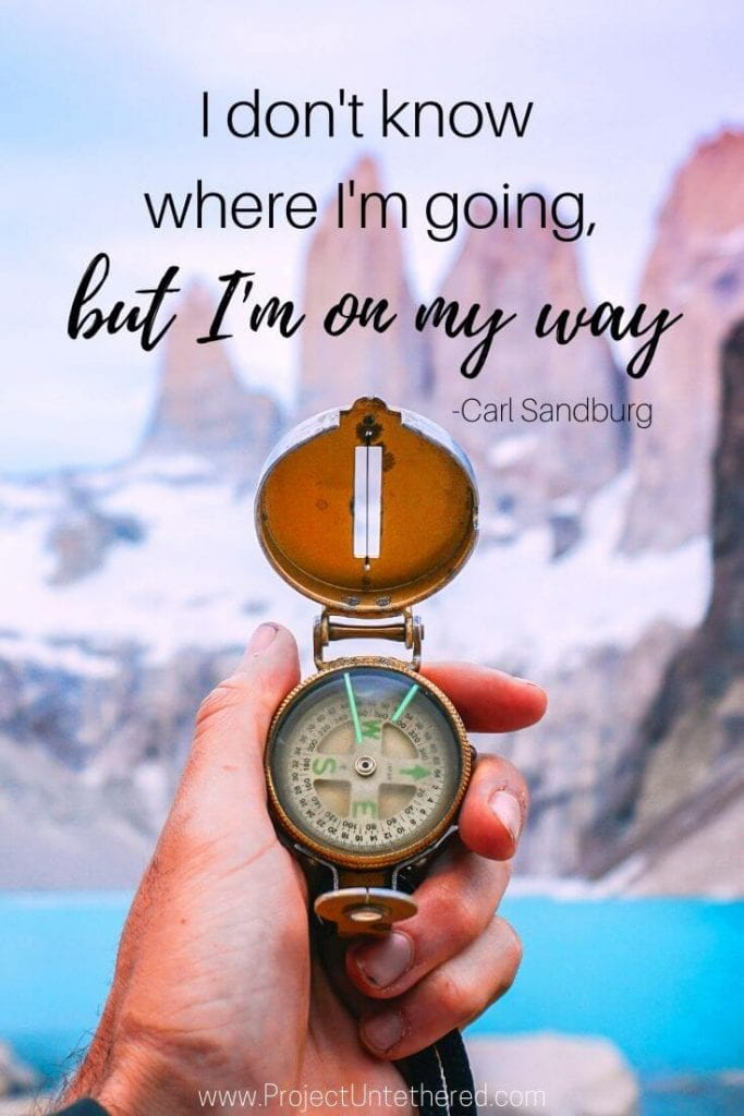 travel quote by Carl Sandburg
