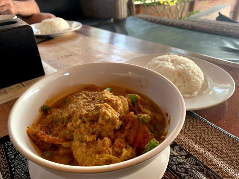 Coconut curry at Lazy Beach Restaurant on Koh Rong Samloem, Cambodia