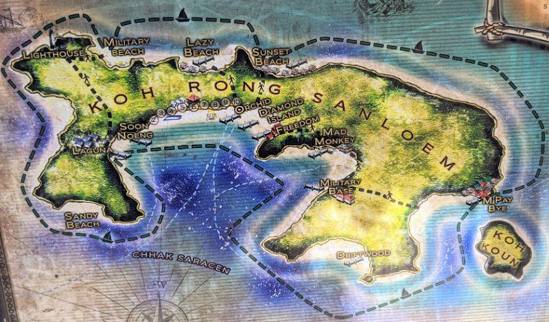Koh Rong Samloem map