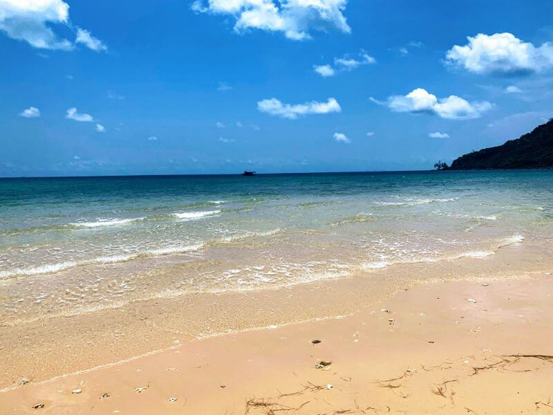 sand and water at Lazy Beach, Koh Rong Samloem in Cambodia