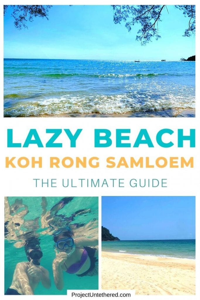beach pics with text overlay Lazy Beach Koh Rong Samloem The Ultimate Guide