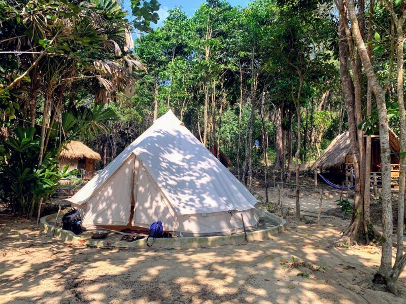 Koh Rong samloem glamping on Sunset Beach at Robinson Bungalows