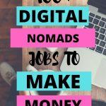 text overlay 100 plus digital nomads jobs to make money traveling