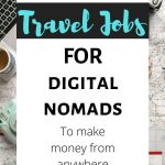 text overlay travel jobs for digital nomads to make money from anywhere
