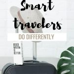 travel bag image with text overlay 20 packing tips smart travelers do differently