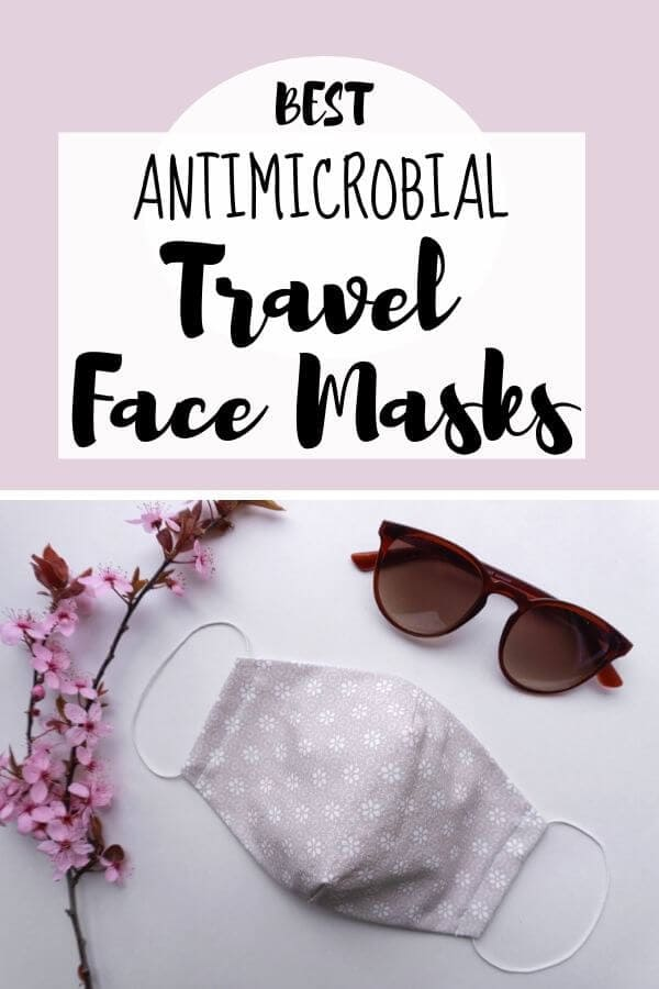 travel mask picture with text overlay best antimicrobial travel face mask