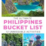 pictures of philippines with text overlay the ultimate philippines bucket list 12 unmissable activities