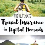 travel pictures with text overlay the ultimate travel insurance for digital nomads