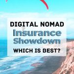 travel picture with text overlat digital nomad insurance showdown which is best