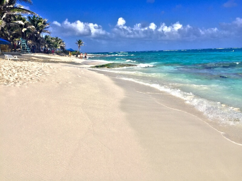 white sand beach on san andres island colombia