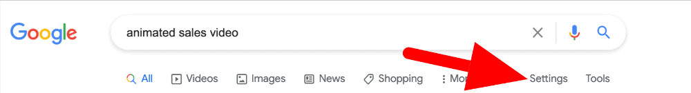 google search screenshot showing how to find drop servicing website examples