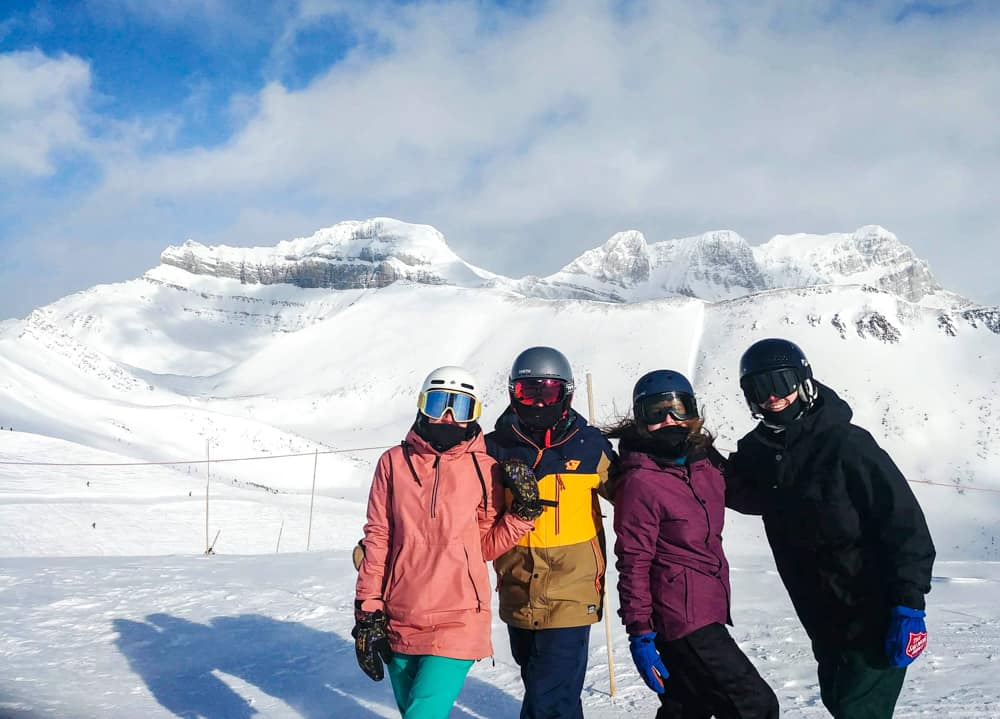 group of skiiers in Canada