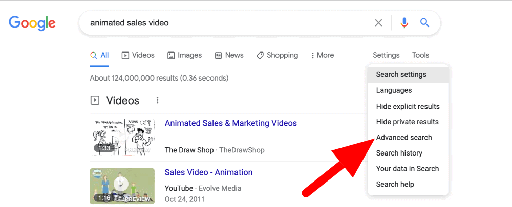 google search screenshot showing how to find drop servicing websites
