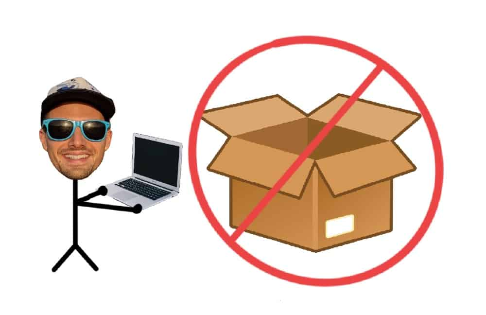 graphic of a don't-put-me-in-a-box type of digital nomad