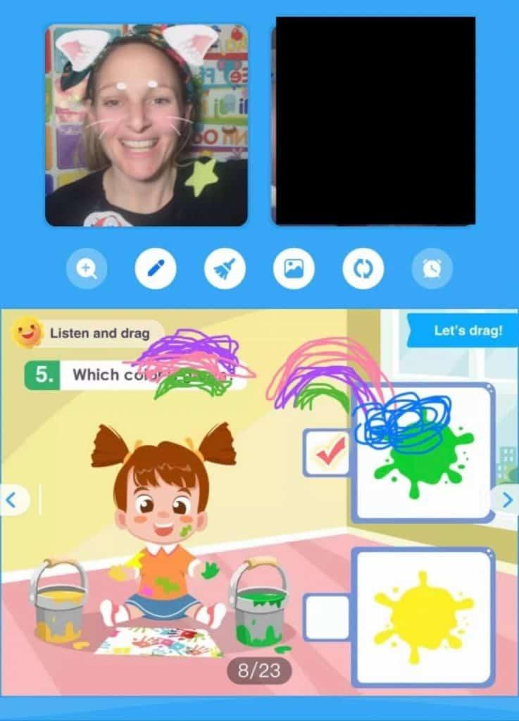 screenshot of Palfish English teaching application