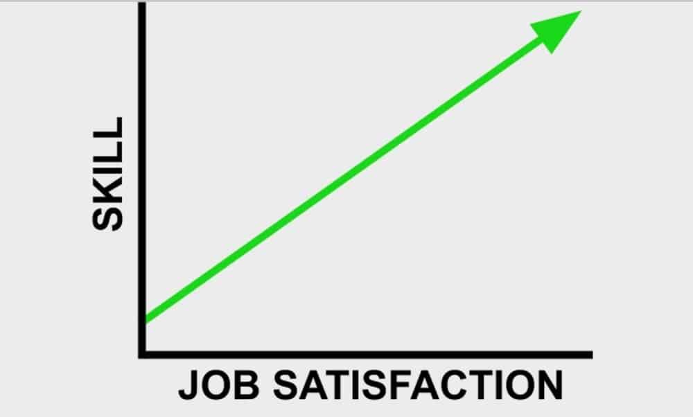 skill vs job satisfaction graph