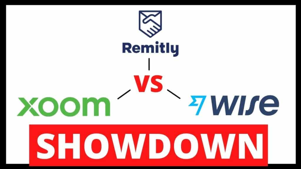 graphic that says remitly vs xoom vs wise showdown