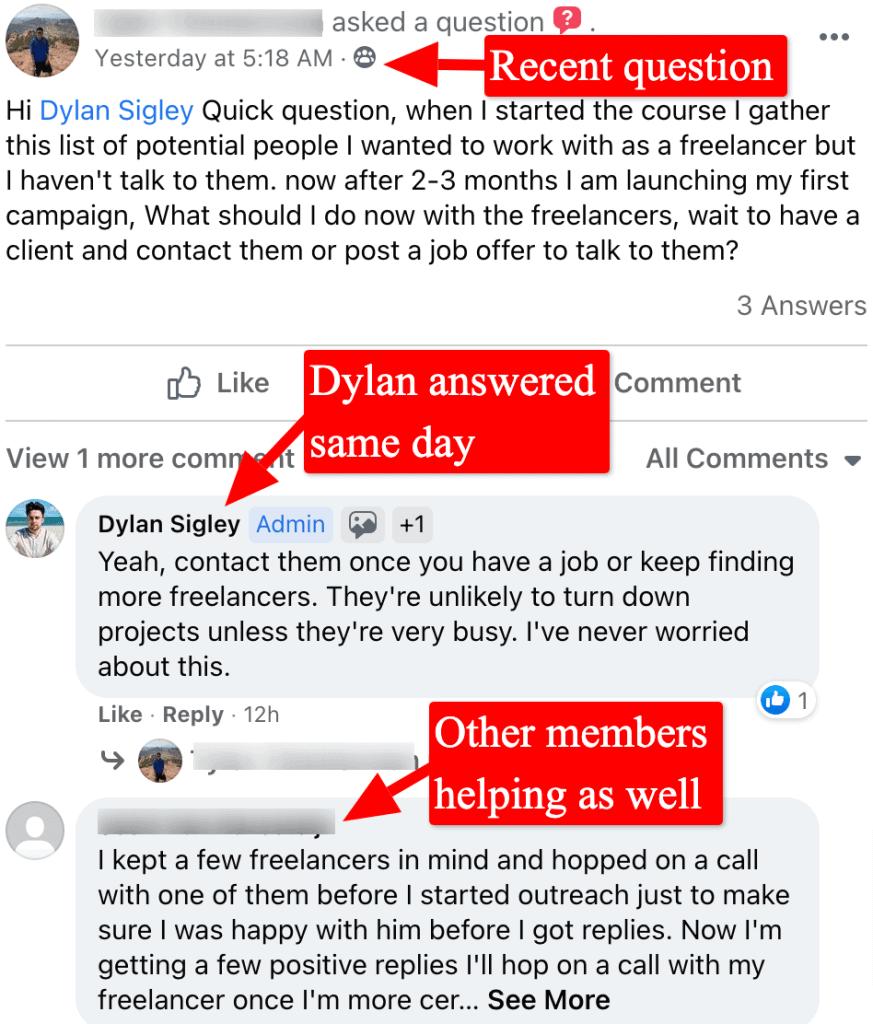 screenshot of drop servicing blueprint facebook group