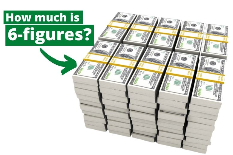 graphic that says how much is 6 figures in money