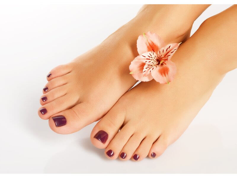 close up of person selling feet pics