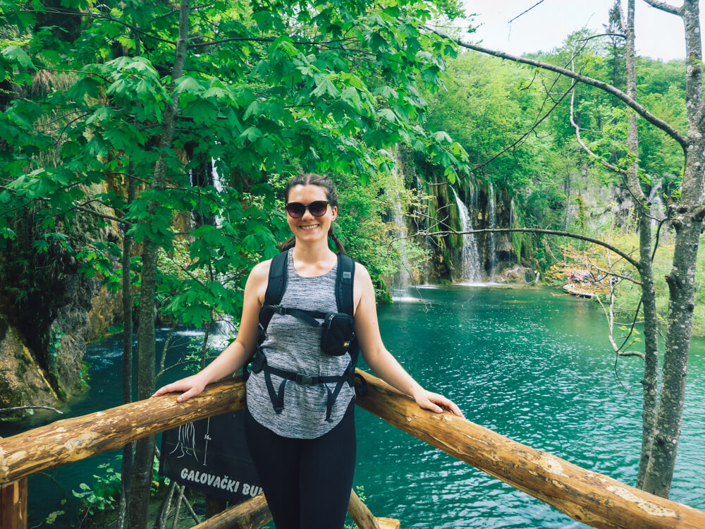 woman at Plitviche Lakes, Croatia