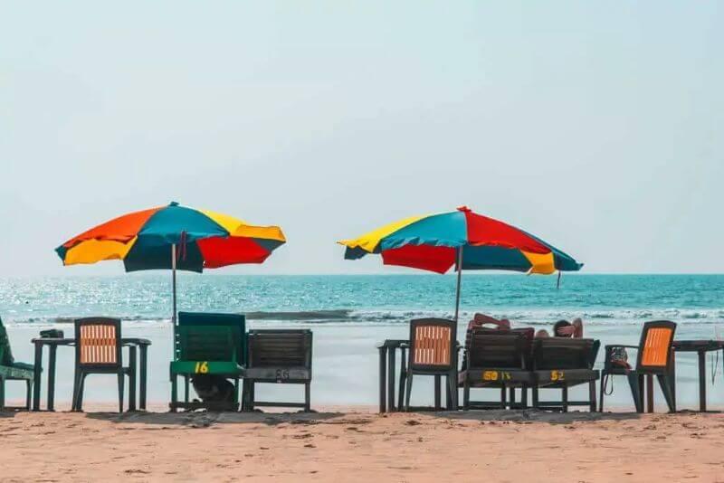 goa beach tables