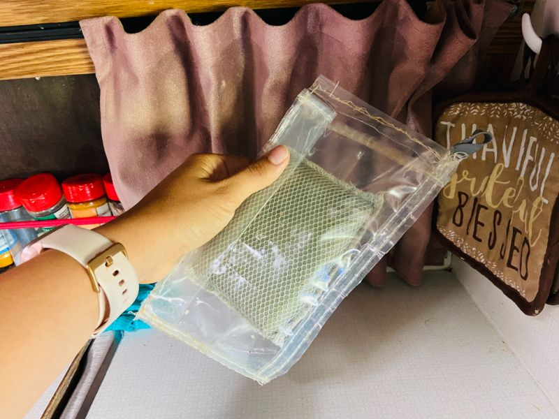 DIY sponge holder for campervan