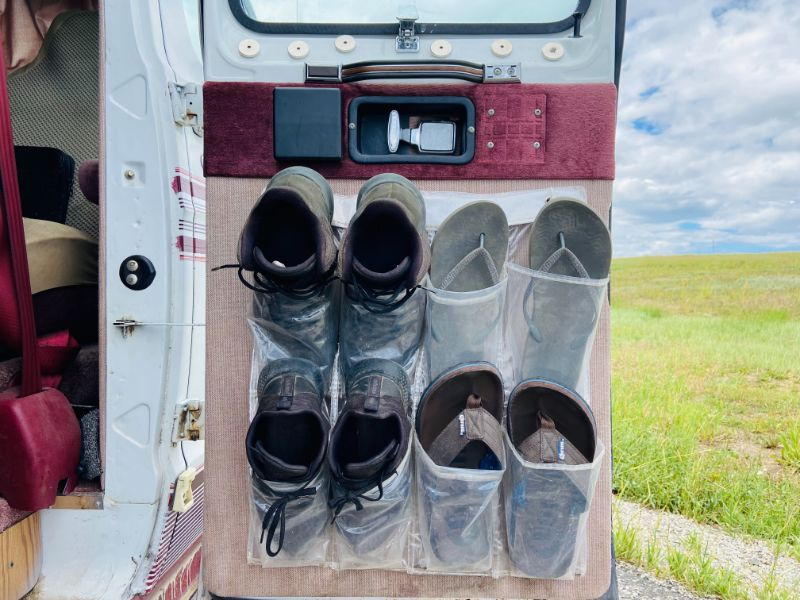 show organizer in camper van
