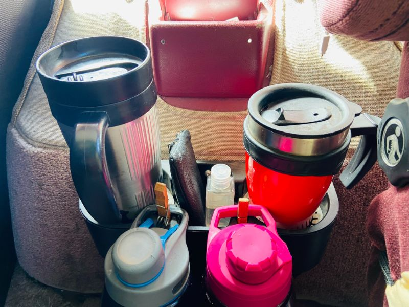 DIY water bottle and coffee station
