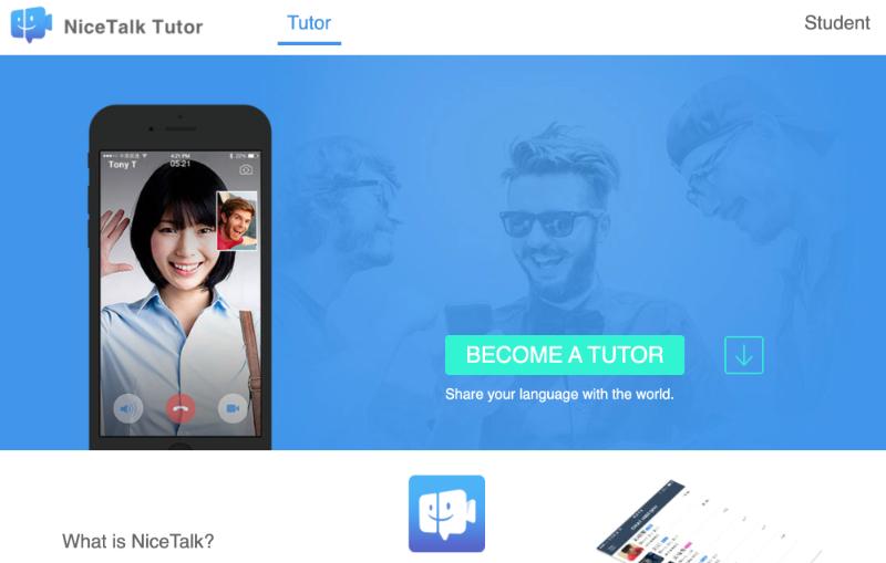 NiceTalk homepage screenshot